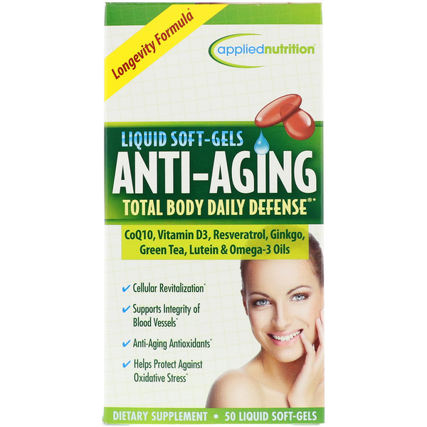 appliednutrition, Anti-Aging Total Body Daily Defense, 50 Liquid Soft-Gels (Discontinued Item)