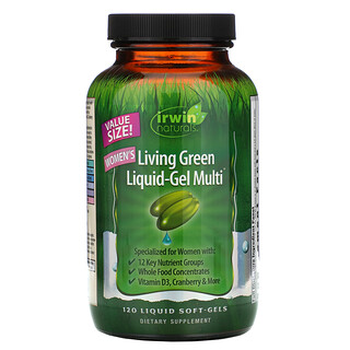 Irwin Naturals, Women's Living Green Liquid-Gel Multi, 120 Liquid Soft-Gels