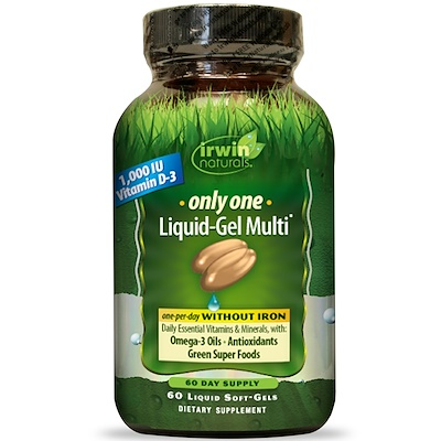 Only One, Liquid-Gel Multi, Without Iron, 60 Liquid Soft-Gels