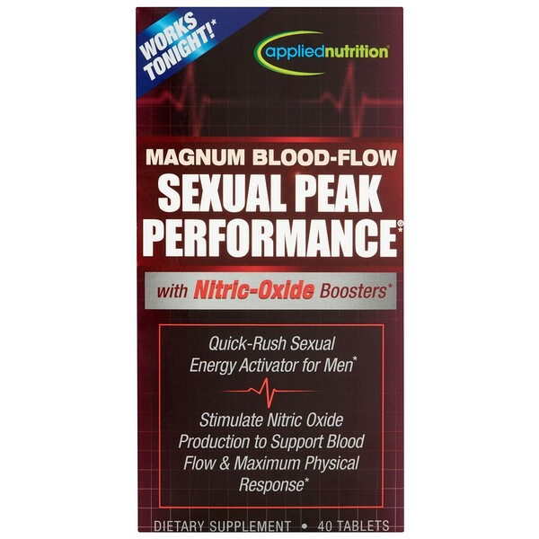 appliednutrition, Magnum Blood-Flow Sexual Peak Peformance, 40 Tablets