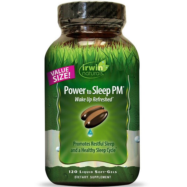 Irwin Naturals, Power to Sleep PM, 120 cápsulas blandas líquidas