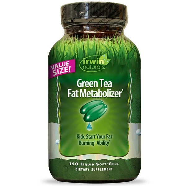 Irwin Naturals, Green Tea Fat Metabolizer、液体ソフトジェル150 錠