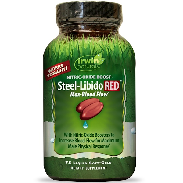 Irwin Naturals, Steel-Libido Red, 75 Liquid Soft-Gels