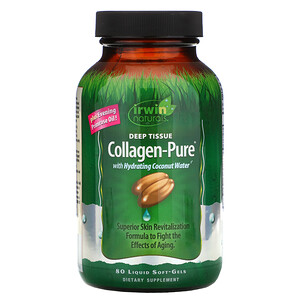 Ирвин Натуралс, Collagen-Pure, Deep Tissue, 80 Liquid Soft-Gels отзывы покупателей