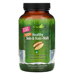 Ирвин Натуралс, Healthy Skin & Hair Plus Nails, 120 Liquid Soft-Gels отзывы