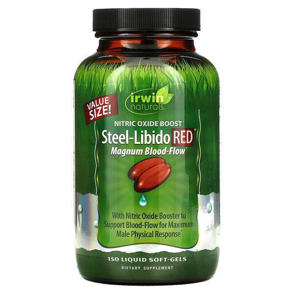 Irwin Naturals, Steel-Libido Red, Magnum Blood-Flow, 150 Cápsulas Softgel Líquidas