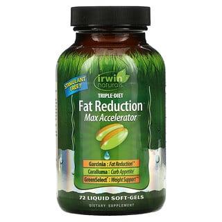 Irwin Naturals, Triple-Diet, Fat Reduction Max Accelerator, 72 Liquid Soft-Gels