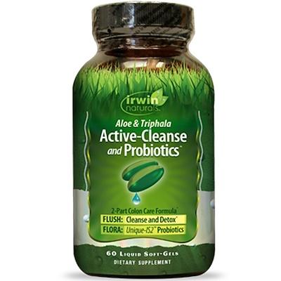 Active-Cleanse and Probiotics, с алоэ и трифалой, 60 мягких желатиновых капсул с жидкостью