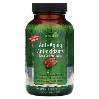 Irwin Naturals, Anti-Aging Antioxidants, 60 Liquid Soft-Gels