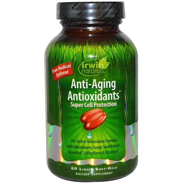Irwin Naturals, Anti-Aging Antioxidants, 60 Liquid Soft-Gels