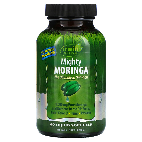 Mighty Moringa, 60 Liquid Soft-Gels