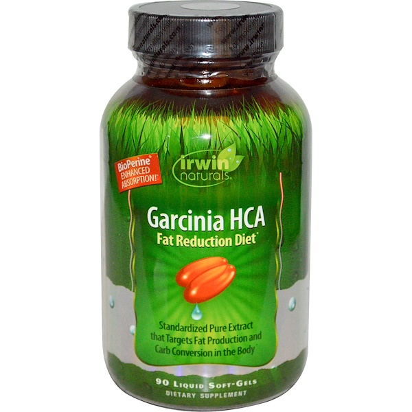 Irwin Naturals, Garcinia HCA, 90 Liquid Soft-Gels (Discontinued Item)