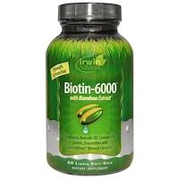 Биотин-6000, С экстрактом бамбука, 60 жидких капсул - фото