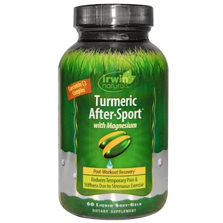 Irwin Naturals, Turmeric After·Sport, With Magnesium, 60 Liquid Soft-Gels