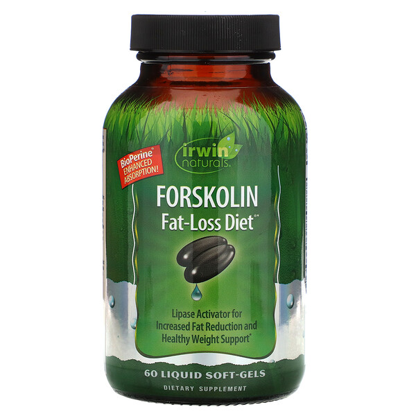 Forskolin, Fat-Loss Diet, 60 Liquid Soft-Gels