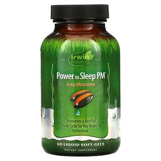 Irwin Naturals, Power to Sleep PM, 6 mg Melatonin, 60 Liquid Soft-Gels
