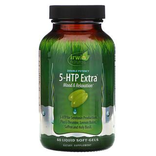 Irwin Naturals, Double Potency, 5-HTP Extra, 60 Liquid Soft-Gels