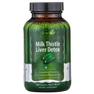 Irwin Naturals, Detox do Fígado de Milk Thistle, 60 Cápsulas Softgel