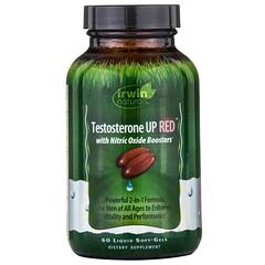 Irwin Naturals, 睾酮素提升與一氧化氮加強劑,60 粒液態軟膠囊