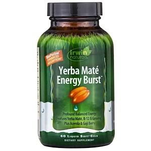 Ирвин Натуралс, Yerba Mate, Energy Burst, 60 Liquid Soft-Gels отзывы