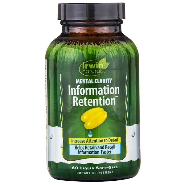 Irwin Naturals, Information Retention, Mental Clarity, 60 Liquid Soft-Gels (Discontinued Item)