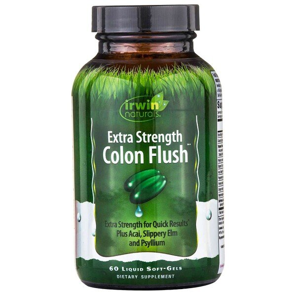 Irwin Naturals, Colon Flush, Extra Strength, 60 Liquid Soft-Gels