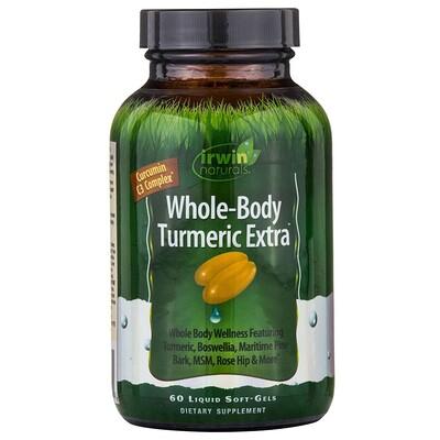 Купить Куркума для всего тела экстра , пищевая добавка с куркумином, 60 мягких желатиновых капсул с жидкостью