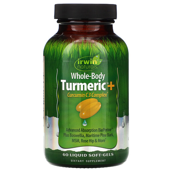 Whole-Body Turmeric+, 60 Liquid Soft-Gels