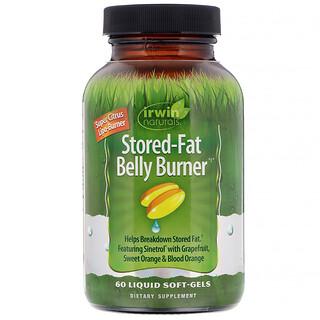 Irwin Naturals, Stored-Fat Belly Burner(ストアドファット ベリーバーナー)、液体ソフトジェル60粒
