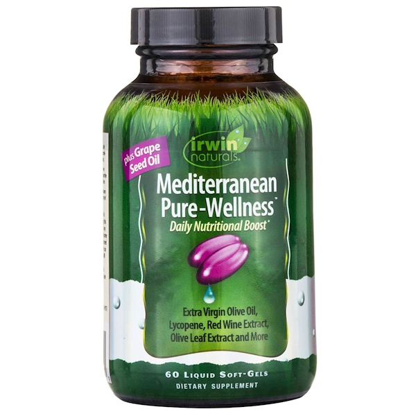 Irwin Naturals, Mediterranean Pure-Wellness, 60 Liquid Soft-Gels (Discontinued Item)