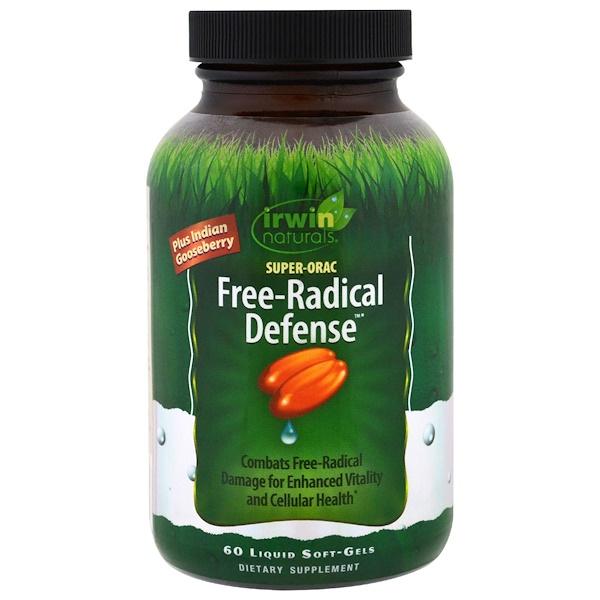 Irwin Naturals, Super-Orac Free-Radical Defense, 60 Liquid Soft-Gels (Discontinued Item)