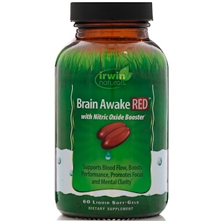 Irwin Naturals, Brain Awake Red, 60 Liquid Soft-Gels