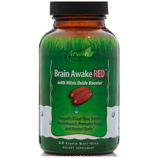 Irwin Naturals, Brain Awake Red, 60 Liquid Soft-Gels (Discontinued Item)