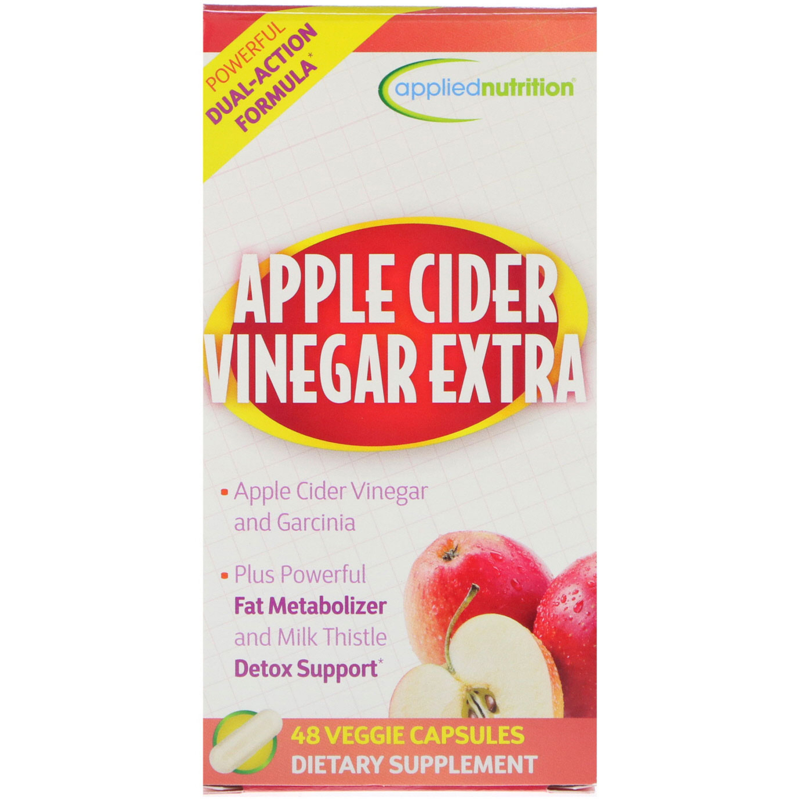 Appliednutrition Apple Cider Vinegar Extra 48 Veggie Capsules Iherb