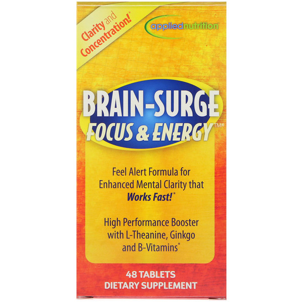 appliednutrition, Brain - Surge Focus & Energy, 48 Tablets (Discontinued Item)