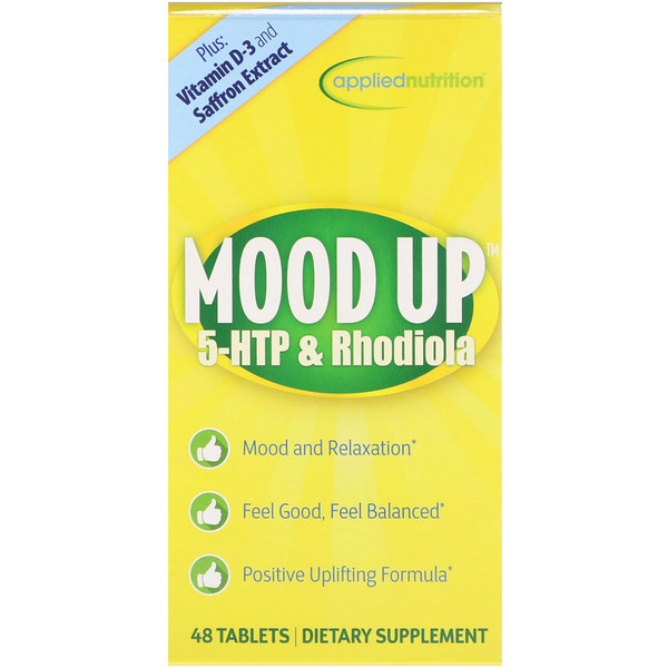 appliednutrition, Mood Up, 5-HTP & Rhodiola, 48 Tablets