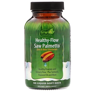 Irwin Naturals, Healthy-Flow Saw Palmetto, 60 Liquid Soft-Gels