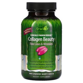 Irwin Naturals, Collagen Beauty, Clinically Proven Verisol, 80 Liquid Soft-Gels