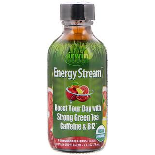 Irwin Naturals, Organic, Energy Stream, Pomegranate Citrus Flavor, 2 fl oz (59 ml)