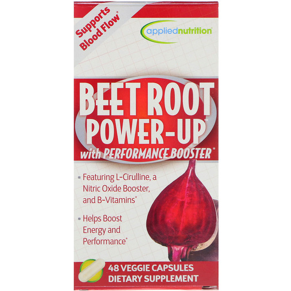 appliednutrition, Beet Root Power-Up, 48 Veggie Capsules (Discontinued Item)