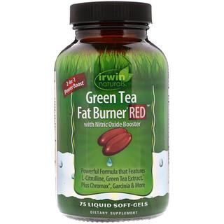 Irwin Naturals, Green Tea Fat Burner Red, 75 Liquid Soft-Gels