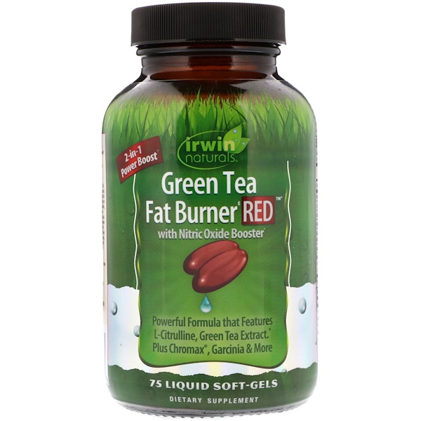Irwin Naturals, Green Tea Fat Burner Red, 75 Liquid Soft-Gels (Discontinued Item)