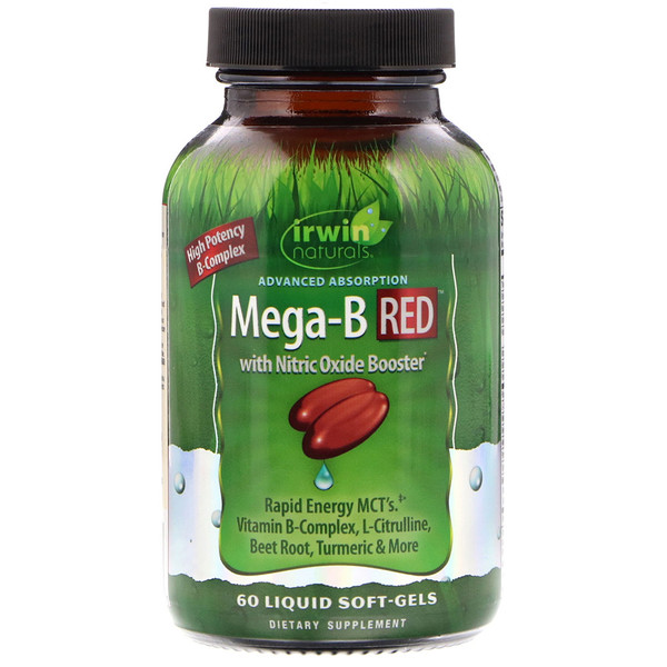 Irwin Naturals, Advanced Absorption Mega-B RED, 60 Liquid Soft-Gels (Discontinued Item)