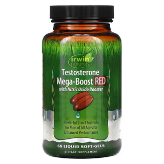 Irwin Naturals, Testosterone Mega-Boost RED, 68 Liquid Soft-Gels