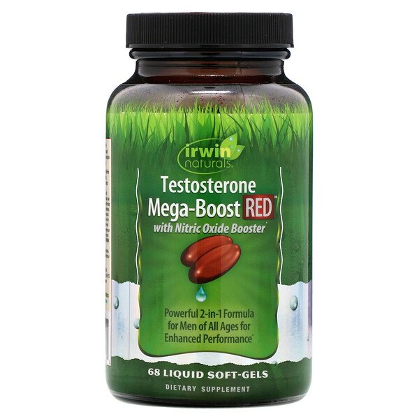 Testosterone Mega-Boost RED, 68 Liquid Soft-Gels