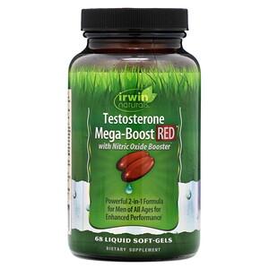 Ирвин Натуралс, Testosterone Mega-Boost RED, 68 Liquid Soft-Gels отзывы