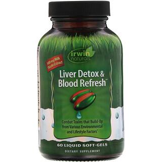 Irwin Naturals, Liver Detox & Blood Refress, 60 Cápsulas Gelatinosas Líquidas