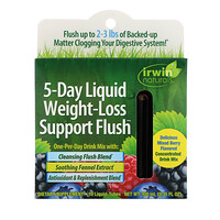 5-Day Liquid Weight-Loss Support Flush, Mixed Berry, 10 Liquid-Tubes, 10 ml Each - фото