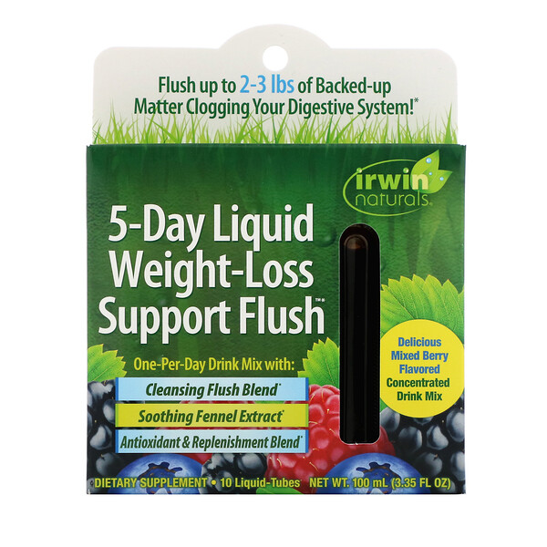 5-Day Liquid Weight-Loss Support Flush, Mixed Berry, 10 Liquid-Tubes, 10 ml Each