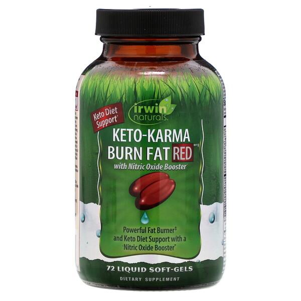 Keto-Karma Burn Fat RED 生酮補充劑,72 粒液體軟膠囊